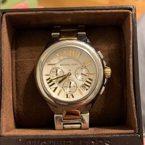 Gold and silver Michael Kors Watch